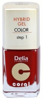 Delia Cosmetics Coral Nail Enamel Hybrid Gel gel smalto