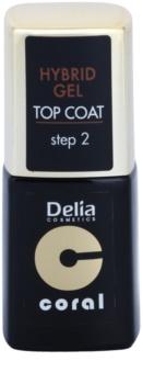 Delia Cosmetics Coral Nail Enamel Hybrid Gel  гел топ лак за нокти