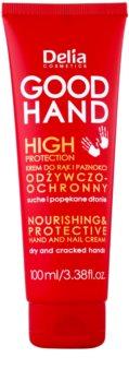 Delia Cosmetics Good Hand High Protection crema nutritiva protectora para manos y uñas