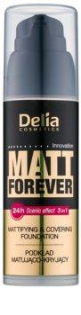 Delia Cosmetics Matt Forever base de maquillaje ligera