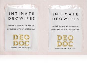 DeoDoc DeoWipes Fresh Coconut toalhetes de higiene íntima