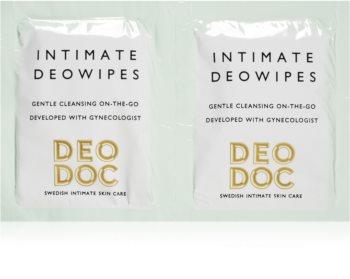 DeoDoc DeoWipes Jasmine Pear lingettes hygiène intime