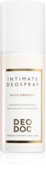 DeoDoc Intimate DeoSpray Fresh Coconut spray refrescante para as partes íntimas
