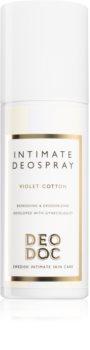 DeoDoc Intimate DeoSpray Violet Cotton освежаващ спрей за интимните части