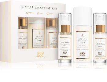 DeoDoc 3 Step Shaving Kit conjunto de barbear