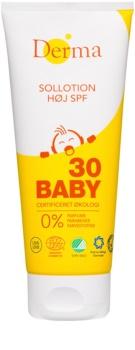 Derma Baby schützende Hautmilch für Kinder SPF 30
