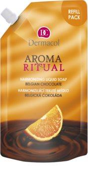Dermacol Aroma Ritual Belgian Chocolate рідке мило змінне наповнення