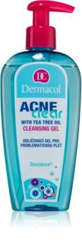 Dermacol Acneclear gel limpiador desmaquillante para pieles problemáticas