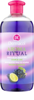 Dermacol Aroma Ritual Grape & Lime schiuma da bagno antistress