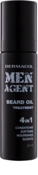 Dermacol Men Agent óleo de cuidado para a barba 4 em 1