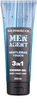 Dermacol Men Agent Gentleman Touch tusfürdő gél 3 az 1-ben