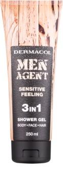 Dermacol Men Agent Sensitive Feeling Suihkugeeli 3 in 1