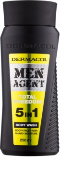 Dermacol Men Agent Total Freedom gel za prhanje 5 v 1