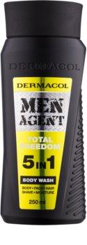 Dermacol Men Agent Total Freedom tusfürdő gél 5 in 1