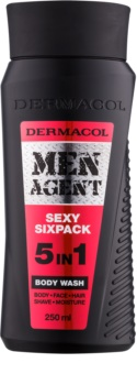 Dermacol Men Agent Sexy Sixpack tusfürdő gél 5 in 1