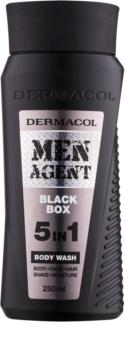 Dermacol Men Agent Black Box tusfürdő gél 5 in 1