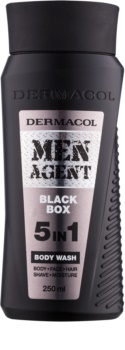 Dermacol Men Agent Black Box żel pod prysznic 5 in 1