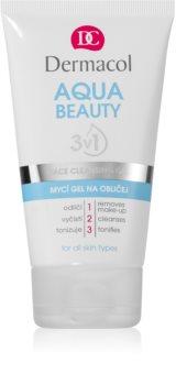 Dermacol Aqua Beauty gel detergente per il viso 3 in 1
