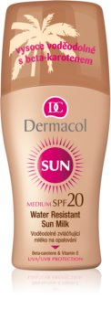 Dermacol Sun Water Resistant voděodolné mléko na opalování SPF 20