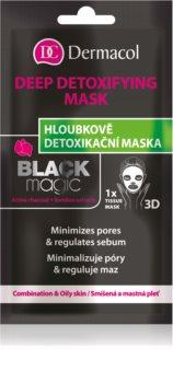 Dermacol Black Magic masque en tissu détoxifiant