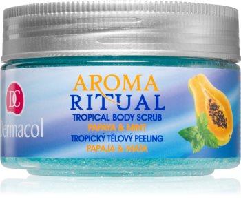 Dermacol Aroma Ritual Papaya & Mint sprchový peeling