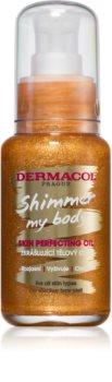 Dermacol Shimmer My Body huile pour le corps veloutée à paillettes