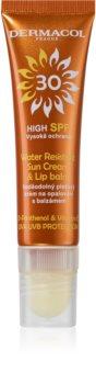 Dermacol Sun Water Resistant Vandfast ansigtssolcreme med læbepomade SPF 30