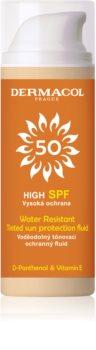 Dermacol Sun Water Resistant impermeabil lichid de tonifiere a pielii cu o protectie UV ridicata