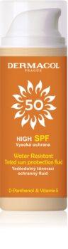 Dermacol Sun Water Resistant tonirani vodoodporni fluid za obraz z visoko UV zaščito