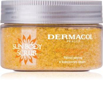 Dermacol Sun cukrový tělový peeling s vůní broskve