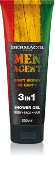 Dermacol Men Agent Don´t Worry Be Happy Brusegel 3-i-1