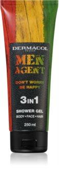 Dermacol Men Agent Don´t Worry Be Happy gel de douche 3 en 1