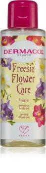 Dermacol Flower Care Freesia Ylellinen ravitseva vartaloöljy