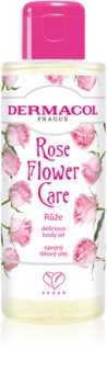 Dermacol Flower Care Rose Луксозно подхранващо масло за тяло