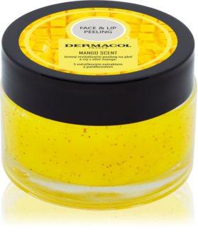 Dermacol Face & Lip Peeling Mango revitalizační peeling na rty a tváře