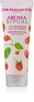 Dermacol Aroma Ritual Wild Strawberries friss tusfürdő gél