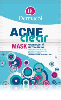 Dermacol Acneclear maska za obraz za problematično kožo, akne