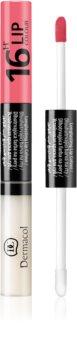Dermacol 16H Lip Colour color y brillo bifásicos para labios de larga duración