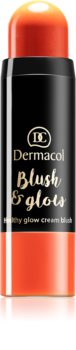 Dermacol Blush & Glow krémes arcpirosító (élénkítő)