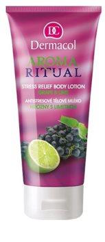 Dermacol Aroma Ritual Grape & Lime antistressz testápoló tej