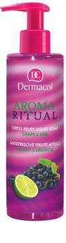 Dermacol Aroma Ritual Grape & Lime sapone liquido antistress