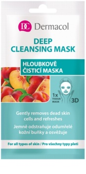 Dermacol Deep Cleasing Mask 3D rensende sheetmaske