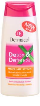 Dermacol Detox & Defence agua micelar desintoxicante y protectora  para rostro, cuello y escote