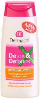 Dermacol Detox & Defence água micelar protetora e desitoxicante para rosto, pescoço e decote