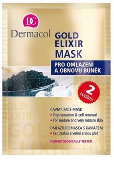 Dermacol Gold Elixir маска за лице  с хайвер