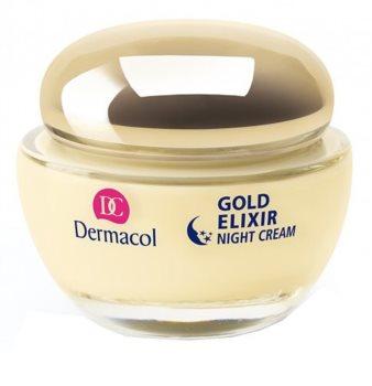 Dermacol Gold Elixir нічний омолоджуючий крем з екстрактом ікри