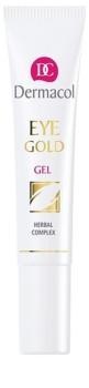 Dermacol Gold Opfriskende gel til at behandle hævelser og mørke rande