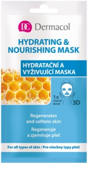 Dermacol Hydrating & Nourishing Mask máscara em folha 3D nutritiva
