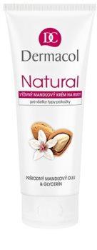 Dermacol Natural подхранващ бадемов крем за ръце и нокти