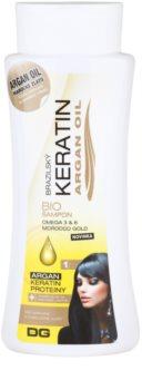 Dermagen Brazil Keratin Argan Oil bio champô para cabelo danificado e pintado